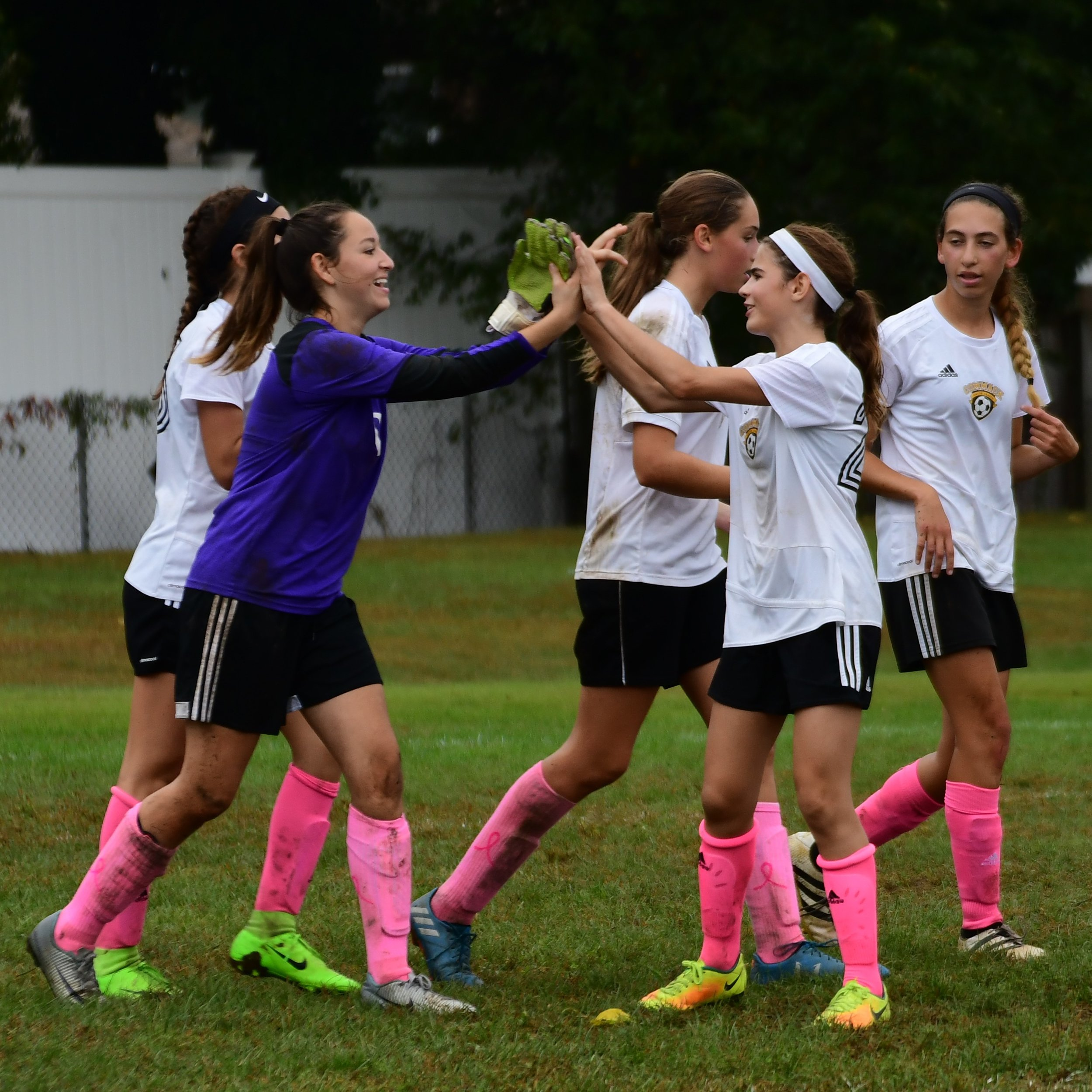 Wear Pink - October is Breast Cancer Awareness month. In support of such a great cause, the Commack Soccer League is selling pink socks in the concession stand at Burr for the entire month of October. We are asking everyone, both boys and girls, to