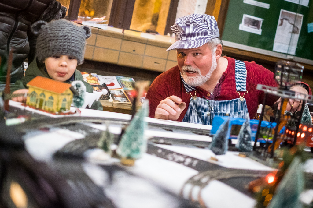 Westwood, NJ - Dec. 2, 2017:  A model train display set up at the Westwood Train Station as part of their annual Home for the Holidays celebration.