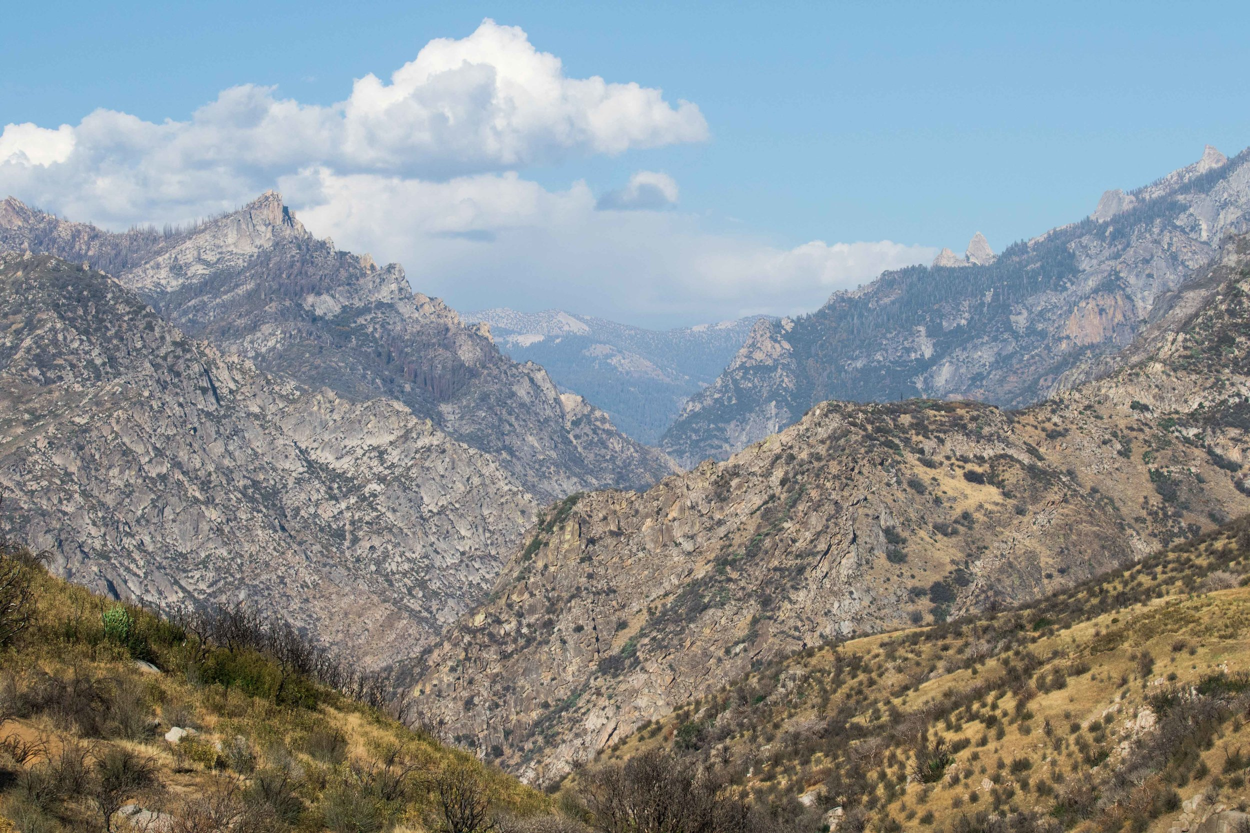 Scenic Drive through King's Canyon -