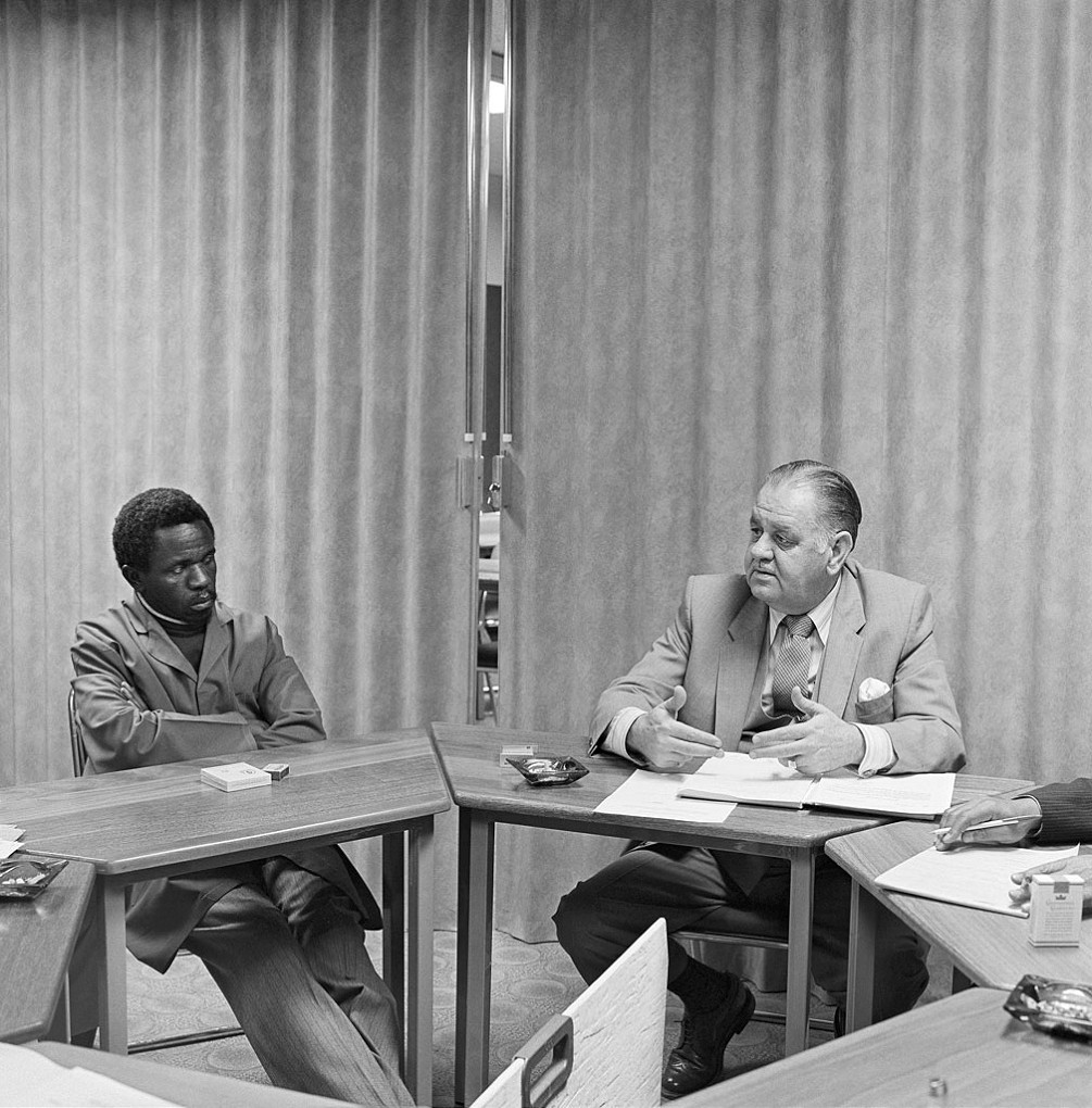 At a meeting of the Worker-Management Liaison Committee of the Colgate-Palmolive company, Boksburg , 1980