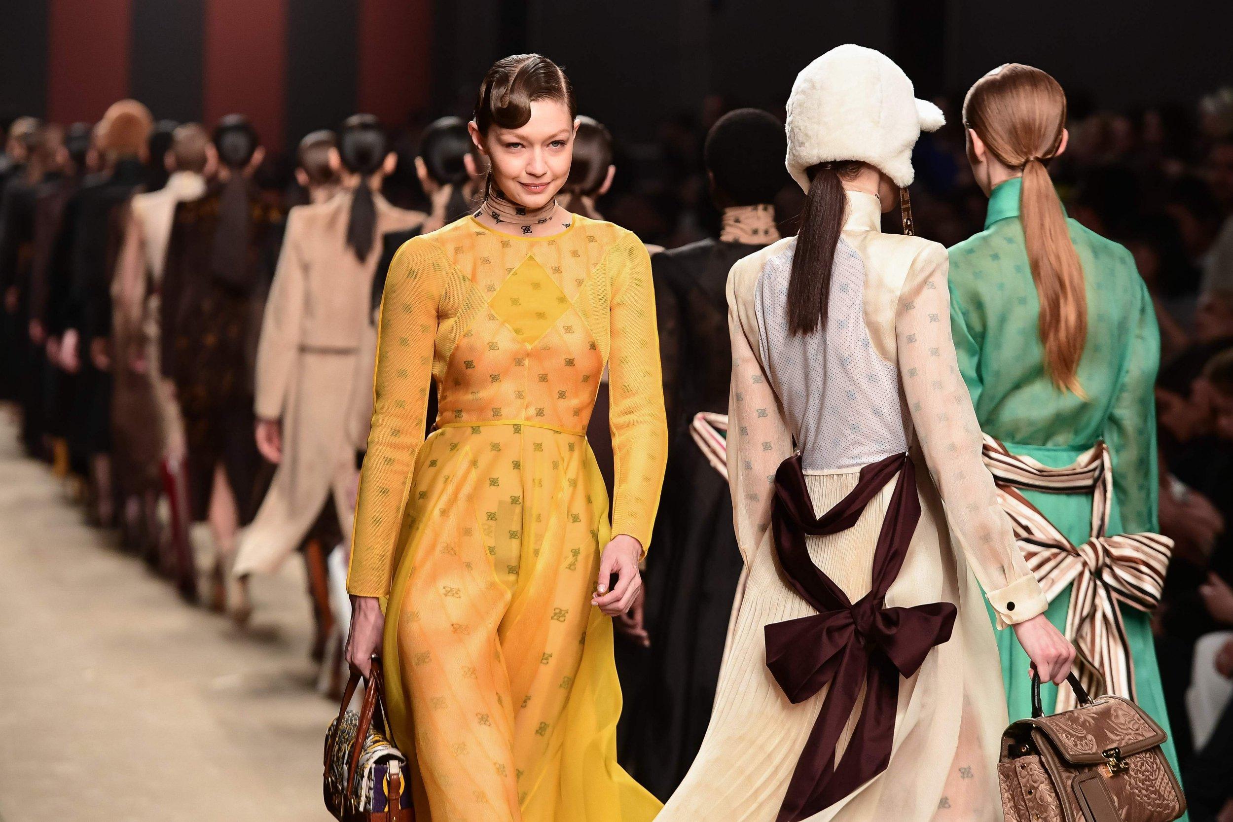 Gigi Hadid / AFP/Getty - Milan Fashion Week