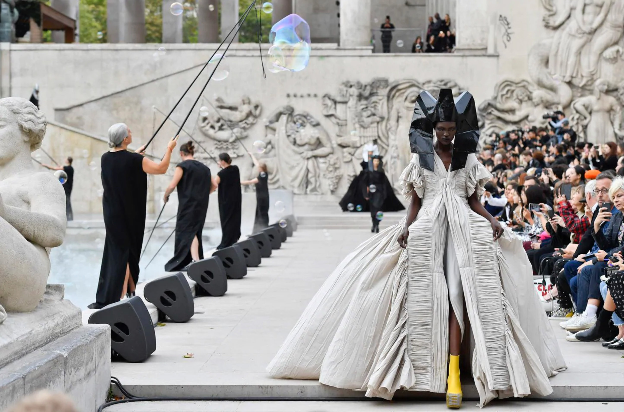 Rick Owens's spring-summer 2020 collection. (Jonas Gustavsson/MCV Photo for The Washington Post)