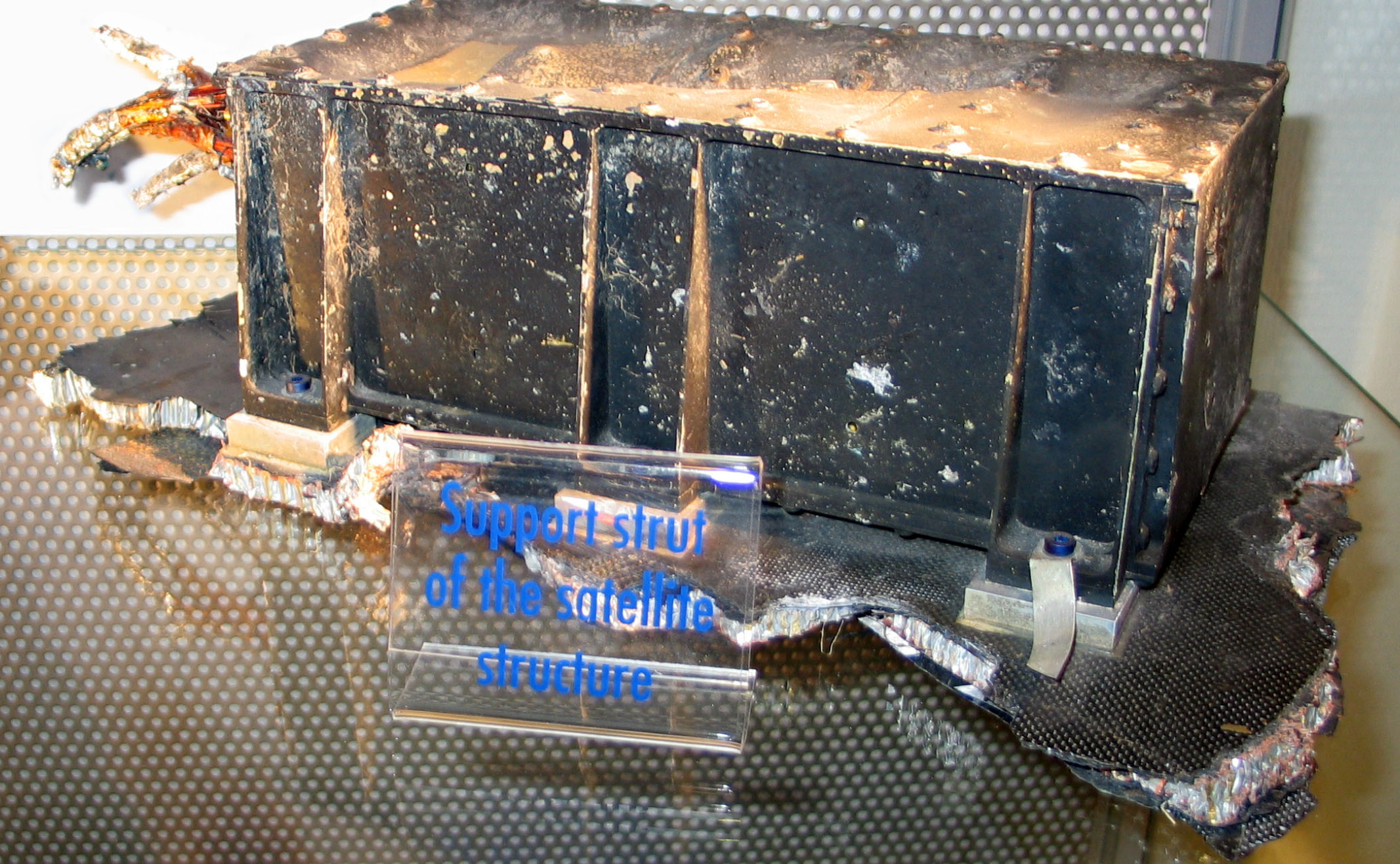Recovered piece of Ariane 5 after RUD