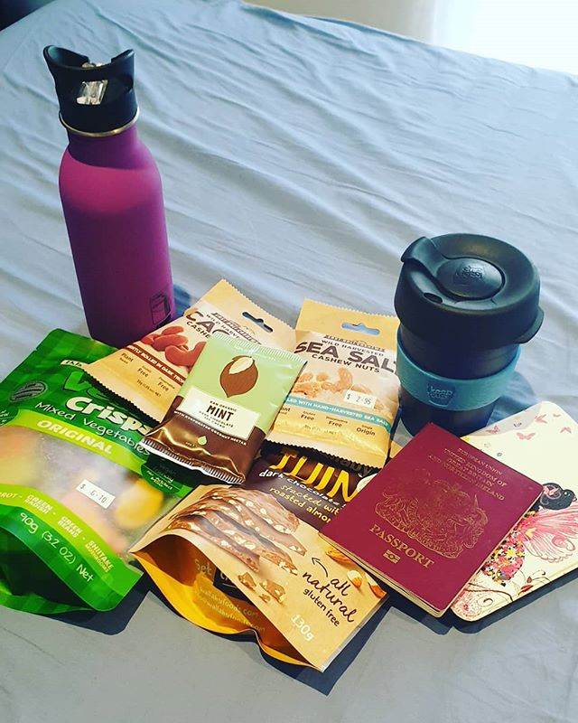 Flying  essentials!!✈✈ Packing for my trip to San Diego tomorrow for our Mastery and Business Retreat @healthcoachinst  So many new things coming including 2 exciting announcements!! Watch this space 🔥🔥❤❤🍾🍾🍾 What is a non-negotiable when you fly? What are some of your fav snacks?