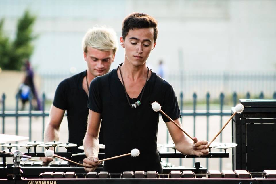 In the Lot at DCI 2018 - The Cavaliers  photo by  Peyton Alexander
