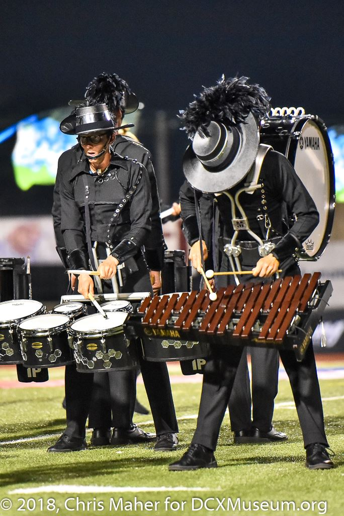 """Marching xylophone feature - The Cavaliers 2018 - """"On Madness and Creativity""""  photo by  Chris Maher"""