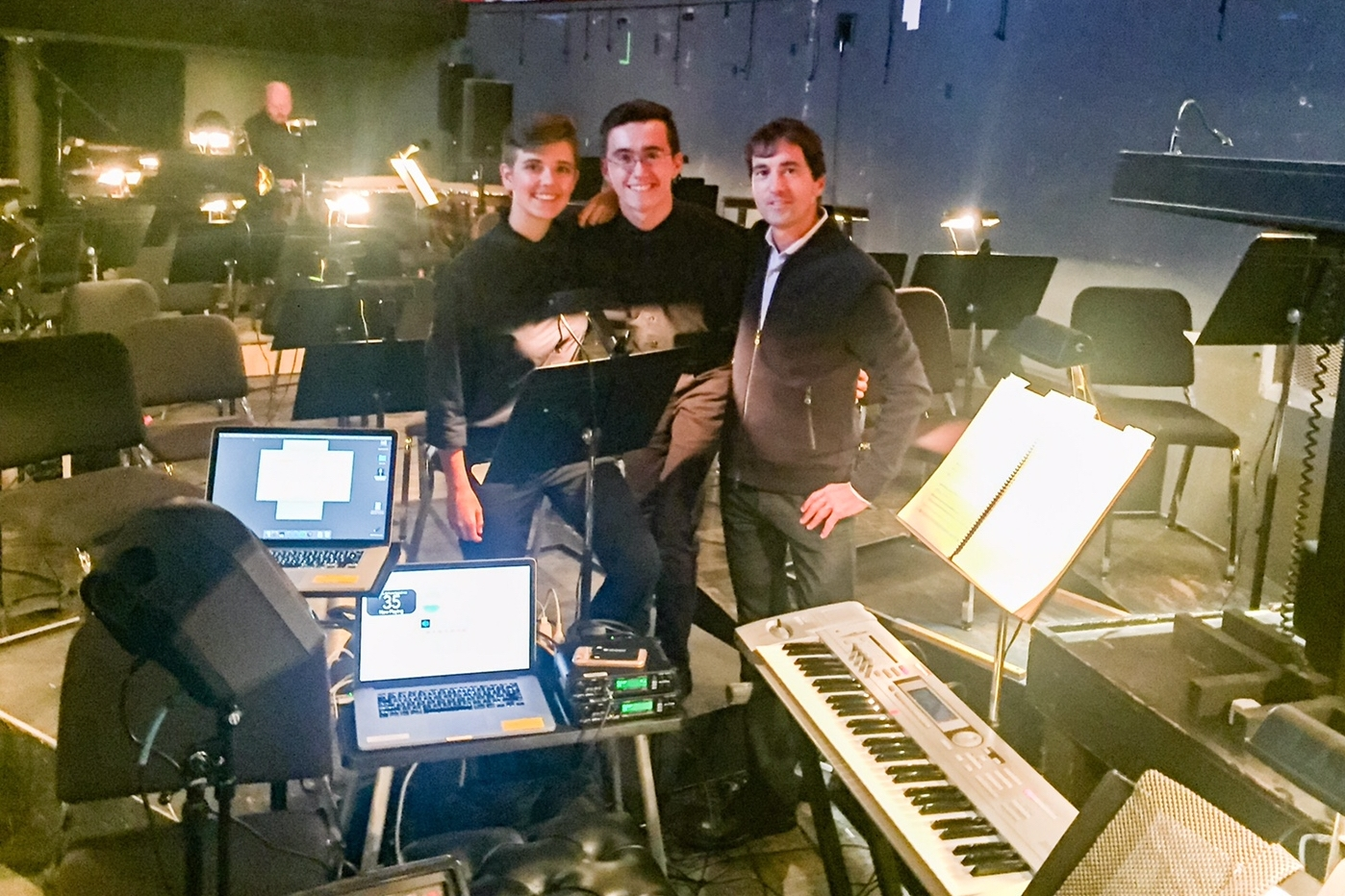 """With  Ryn Jorgensen  and composer  Mason Bates  before the IU premiere of Mason's opera, """"The (R)evolution of Steve Jobs"""""""