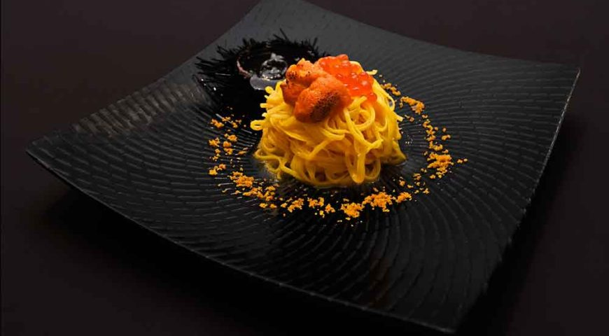 Tagliolini with Hokkaido sea urchins - Enjoy the unique fragrance of Hokkaido sea urchins in this traditional Italian pasta dish that is said to  taste  like the pure essence of the sea. Sea urchins