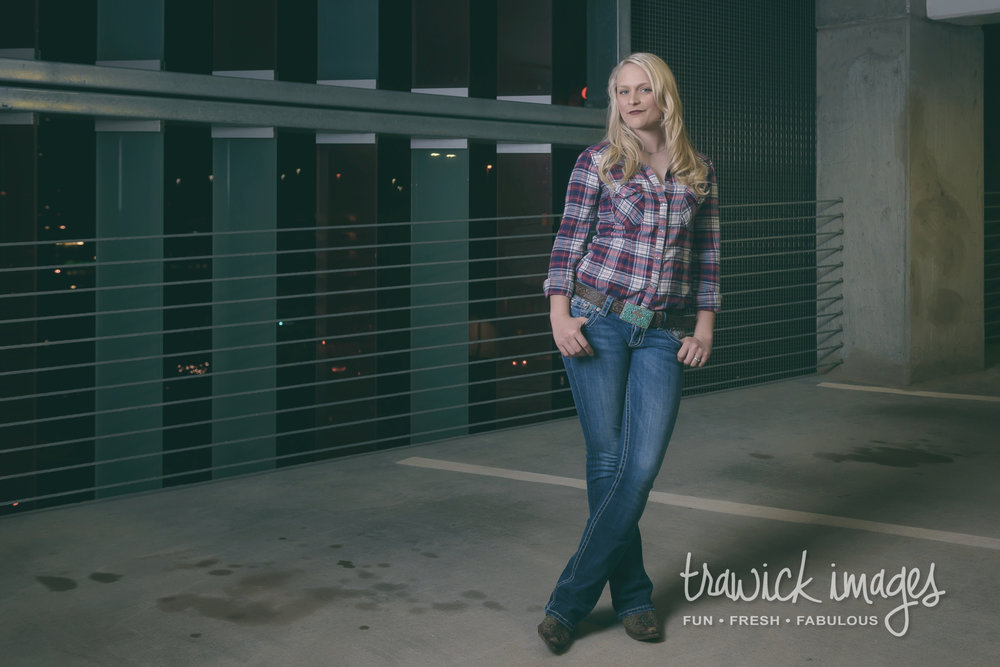 While waiting for the weather to pass, Chae graced us with a country outfit in a parking garage near downtown OKC.