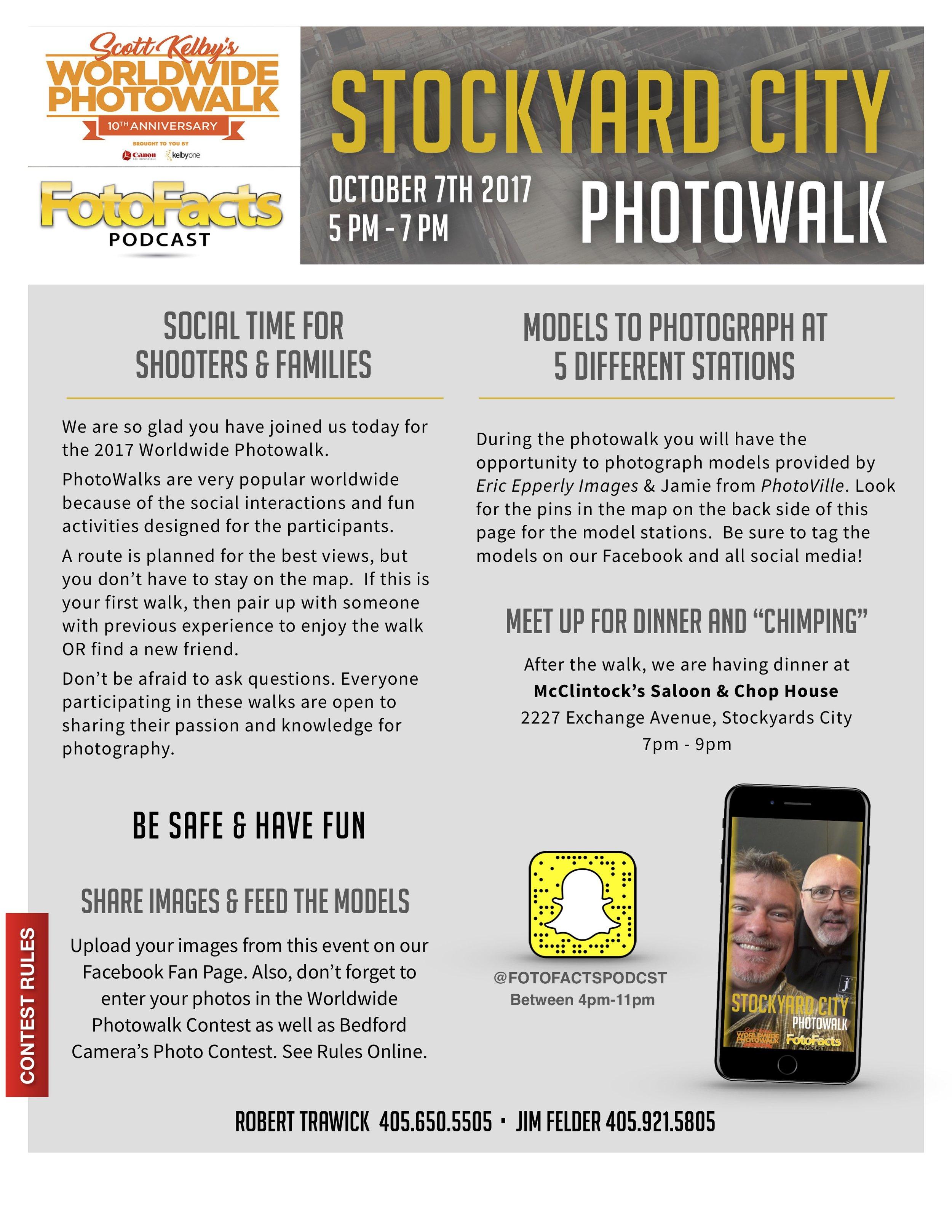 PhotoWalk Flyer from 2017  - Scott Kelby's World Wide PhotoWalk