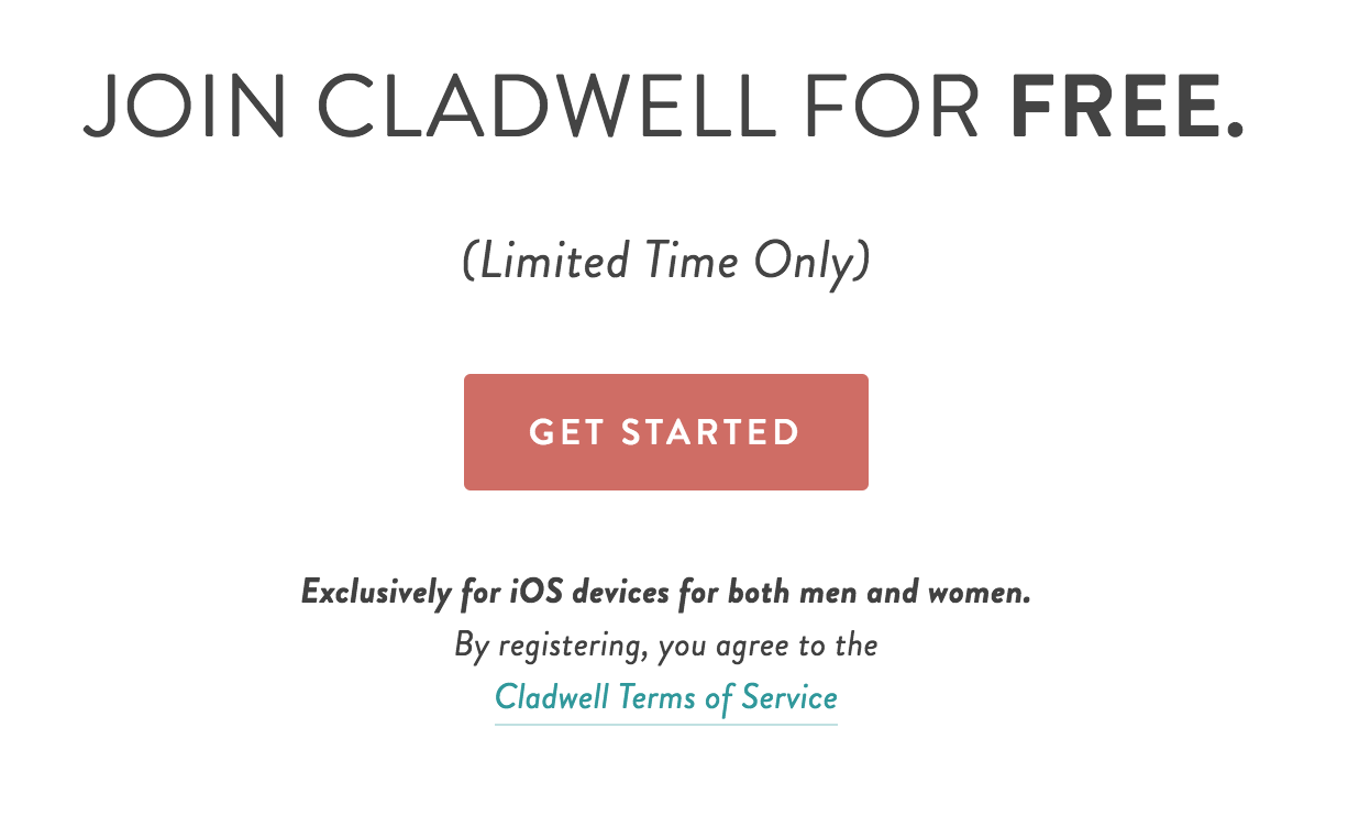 Cladwell Free for Limited Time