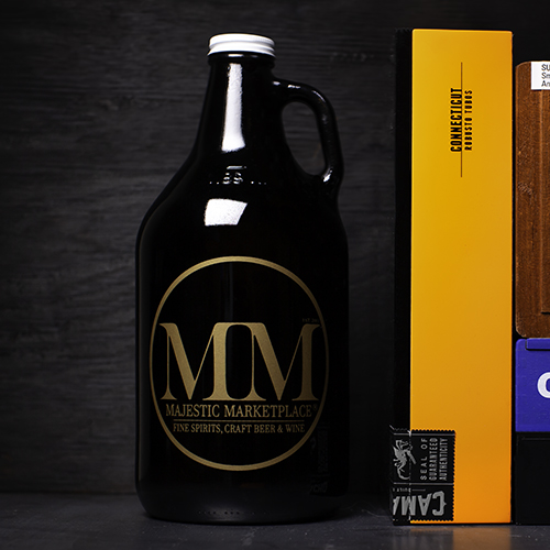 Majestic Marketpolace refillable 640z growler and cigars.jpg