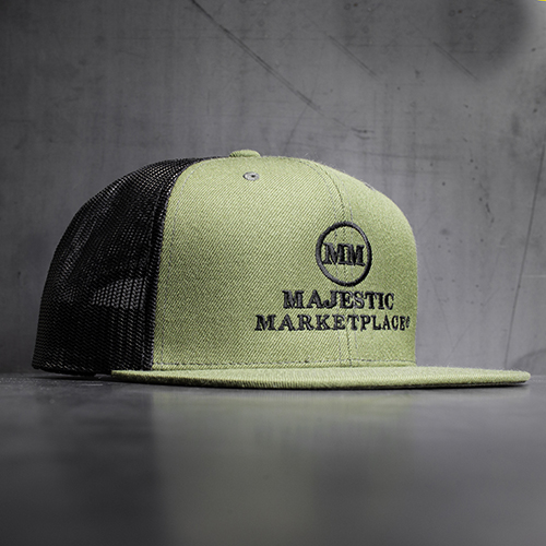 Majestic Marketplace Green Snap Back hat.jpg