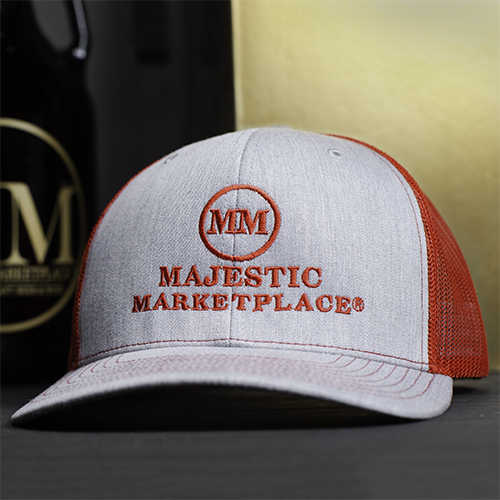 Red Majestic Marketplace trucker hat.jpg