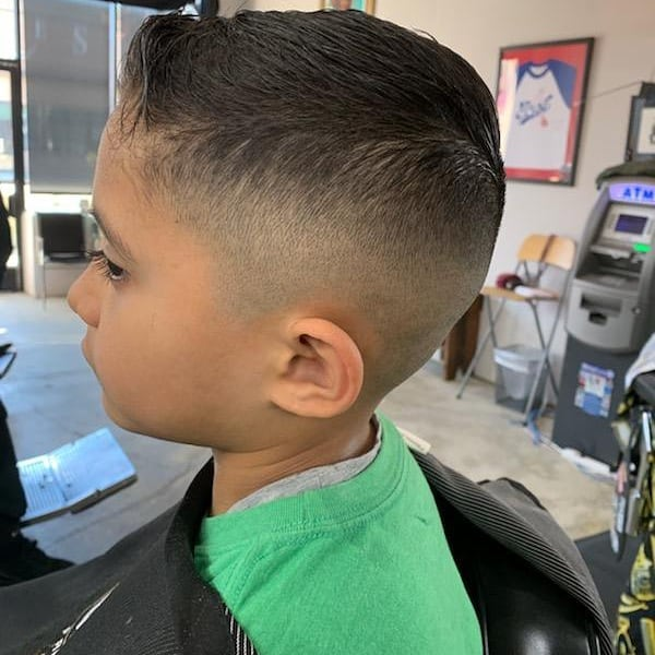 Bring in your little one for a haircut. We are currently taking appointments and walk ins. DM @criscutsr for more info. Follow us @brooklynavebarberco