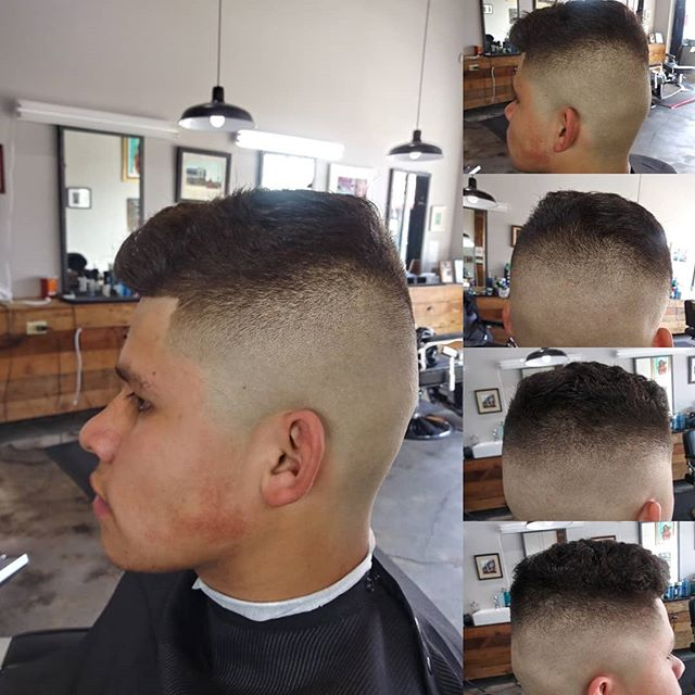 Come in for a haircut, call us today for a booking with @brianrosas809. We are also accepting walk ins. DM for appointments. Follow us @brooklynavebarberco