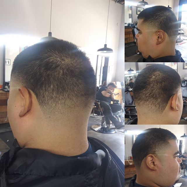 Brian cuts @brianrosas809 Cleaned up my fellow barber.  @criscutsr We accept walk ins or dm for appointments.