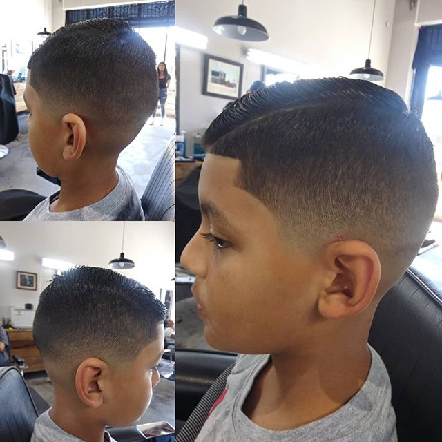 @brianblendz100 Low bald fade on the little man.  Accpeting walk ins. Dm for appointments.