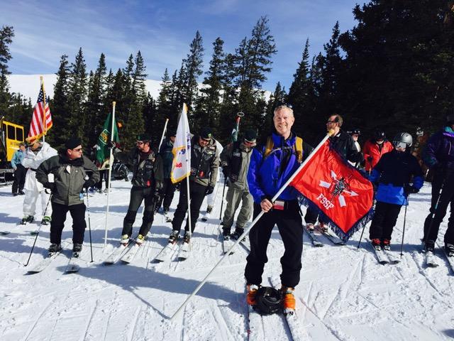 Colonel Tim Whalen at the annual 10th Mountain Division reunion in Ski Copper