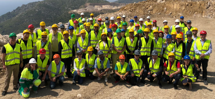 After the recent GAIN meeting in Barcelona, attendees were welcomed at the highly impressive quarries of LafargeHolcim (Las Cuevas, shown here) and PROMSA (La Falconera), PROMSA being part of the Cementos Molins Group.