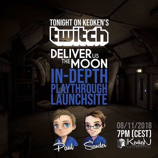 Join us tonight LIVE on @twitch for a @deliverusthemoon In-Depth Playthrough of Launchsite together with @pauldeetman and @sandervanzanten! Big chance we can't contain ourselves for some dance-moves as well! Tune in at 7pm (CEST): https://www.twitch.tv/keoken_interactive #indiedev #indie #gamedev #playthrough #game #live #twitch #games #space #astronaut #dance #goodvibes #lafamilia #thecolony #adventure #development #update #games #letsplay #goodvibes #energy #launch #rocket #journey #welovegames