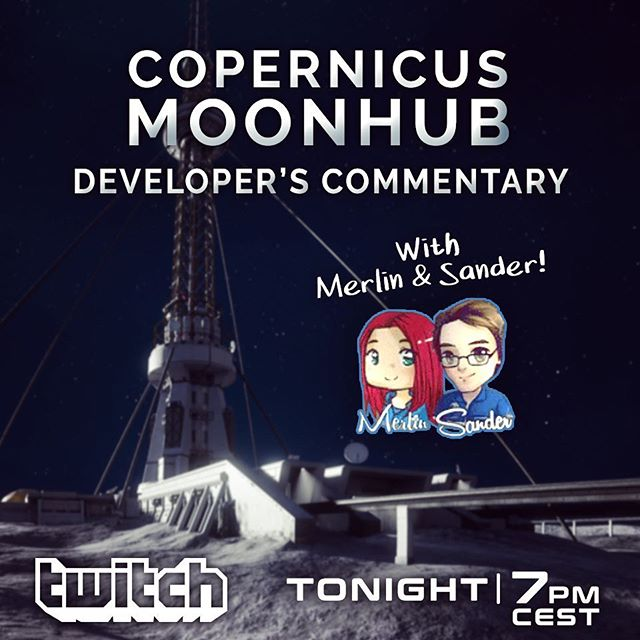 Join us tonight LIVE on @twitch for a @deliverusthemoon update and an in-depth developer commentary of Moonhub together with Merlin Woudstra and @sandervanzanten ! Tune in at 7pm (CEST): twitch.tv/keoken_interactive #indiedev #indie #gamedev #space #twitch #live #astronaut #adventure #journey #moon #surface