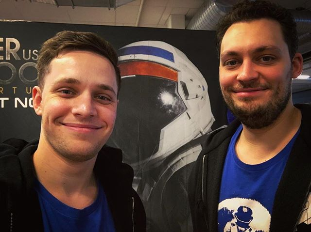 First day of @dreamhack Sweden🇸🇪! @pauldeetman and @koendeetman are ready to suit you up in @deliverusthemoon ! Come and float with us next to Hall A! #indiedev #gamedev #showcase #space #astronaut #conference #astronaut #sweden #journey #game #indie #developer #founders #travel #gaming #lan #party #love #brothers #dutm #exploration #narrative