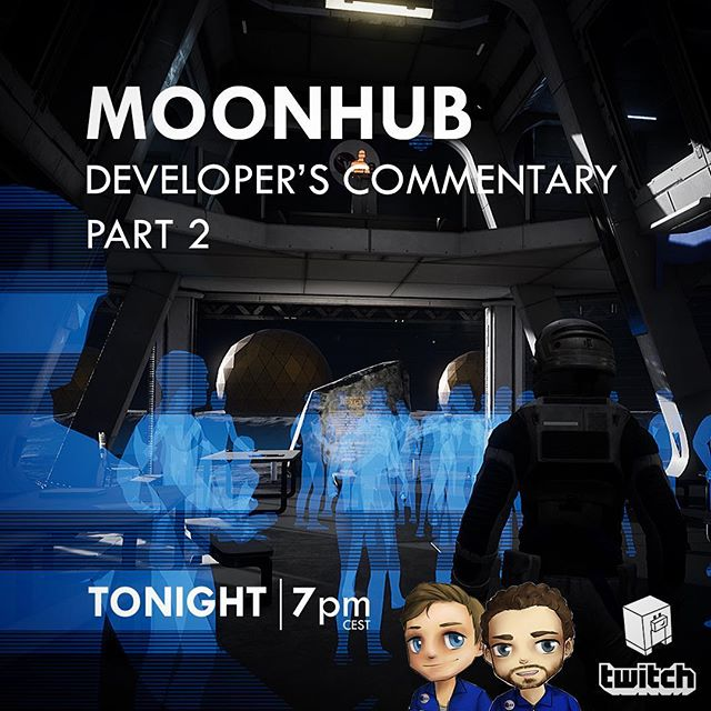 TONIGHT AT 7pm @koendeetman and @pauldeetman will talk about @dreamhack and play PART 2 of Moonhub and give in-depth development commentary! Join us LIVE at: https://www.twitch.tv/keoken_interactive #indiedev #gamedev #development #commentary #space #astronaut #dhw18 #collaboration #brothers #indie #game #live #developer #update #dance #game #narrative #playthrough #letsplay #secrets #goodvibes