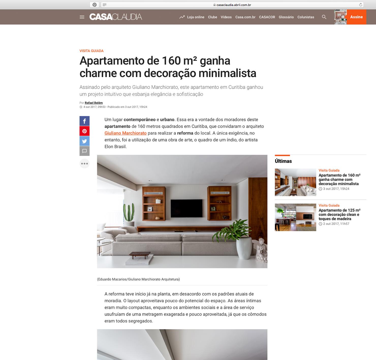 Apartamento Índio  Casa Cláudia |  Link
