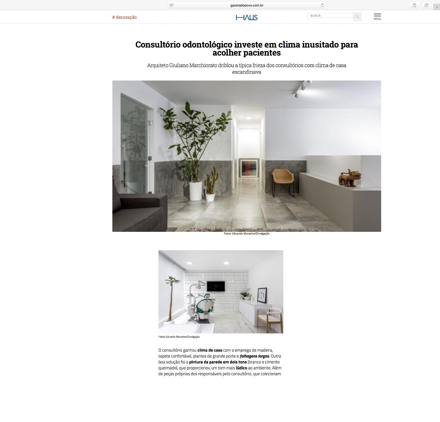 Clínica Gaex Aligner  HAUS Gazeta do Povo |  Link