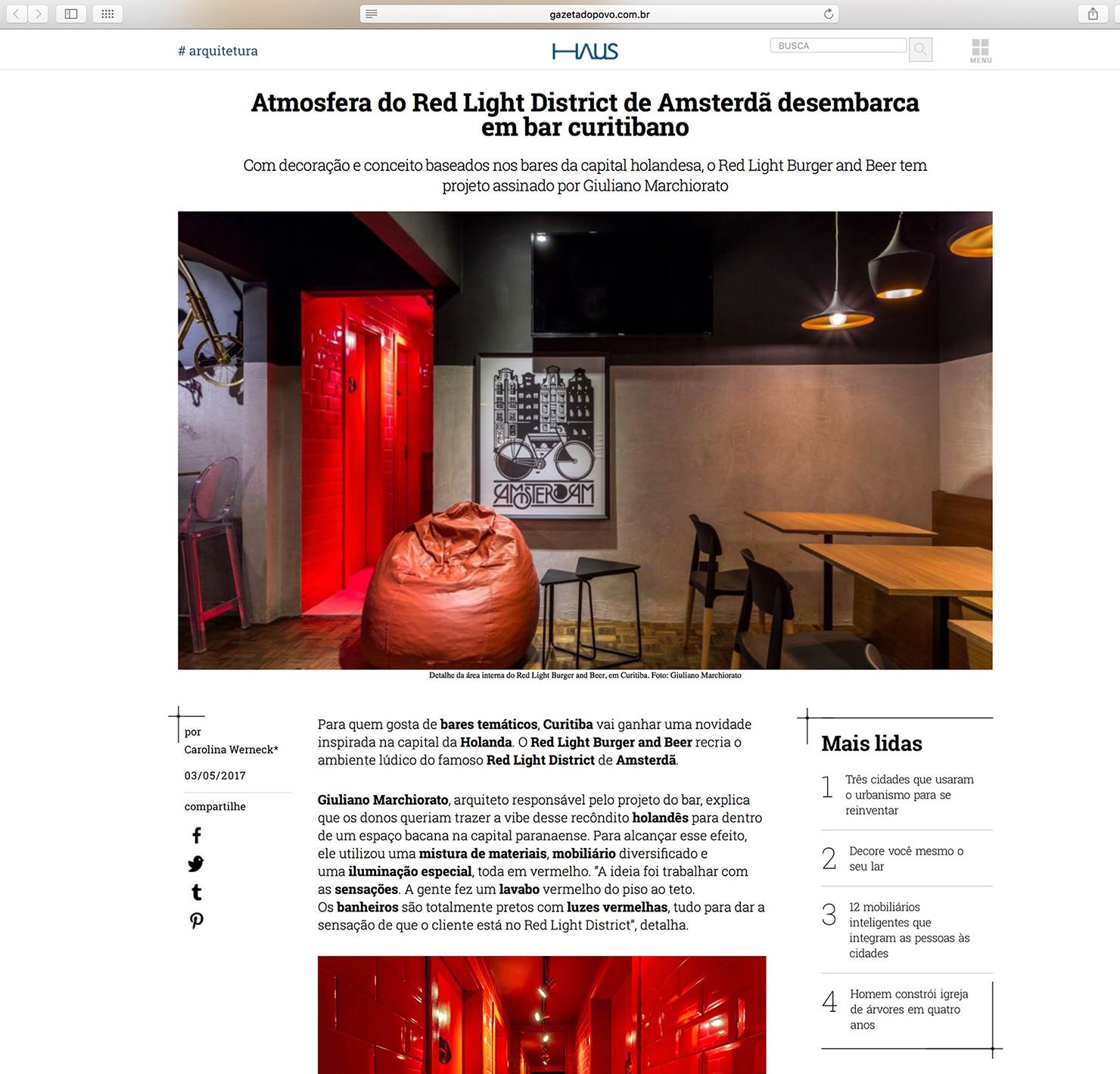 Red Light Burger & Beer  HAUS Gazeta do Povo |  Link