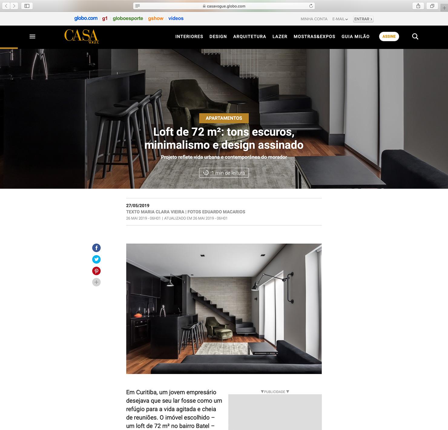 Loft Batel  Casa Vogue |  Link