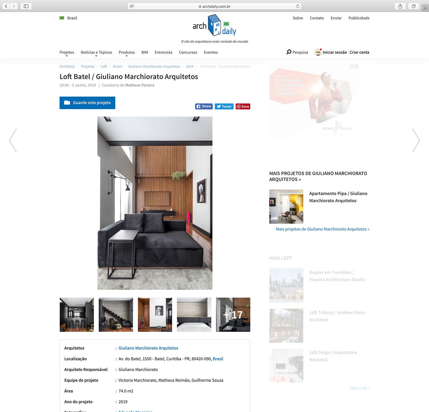 Loft Batel  Arch Daily |  Link
