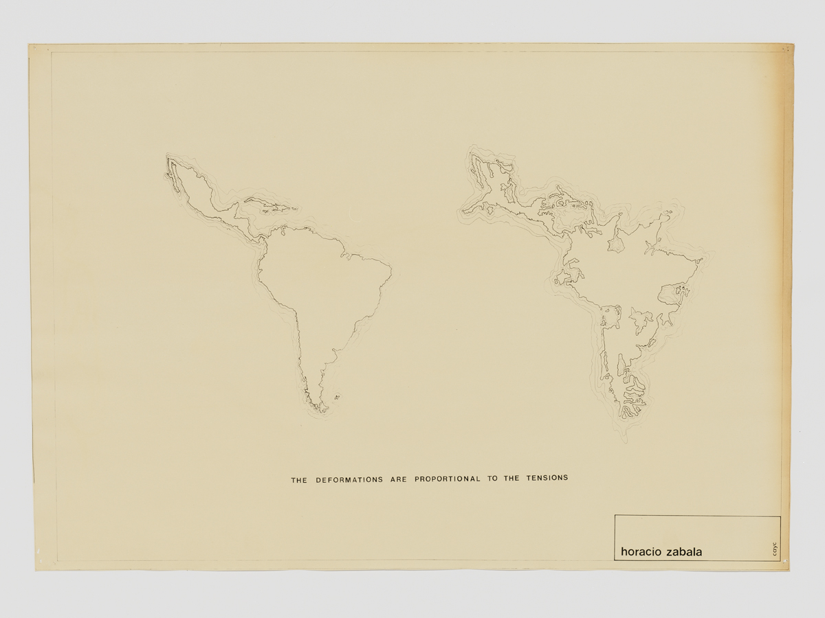 Horacio Zabala,  The Deformations are Proportional to Tensions , c. 1972.