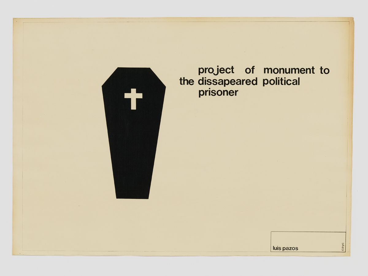 Luis Pazos,  Project of Monument to the Disappeared Political Prisoner , c. 1972.