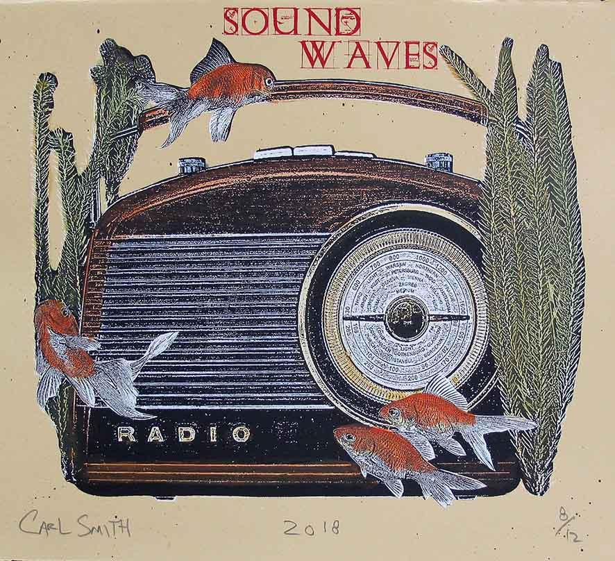 Sound Waves, 34x38cm, 2018