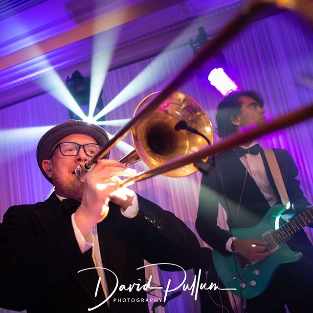 We LOVE 😍 our brass section. If you've got us booked already ask us about how we can add a brass trio to your line for a little extra funk #totemsuperstars #weddingband #jewishwedding #music #liveband #wedding