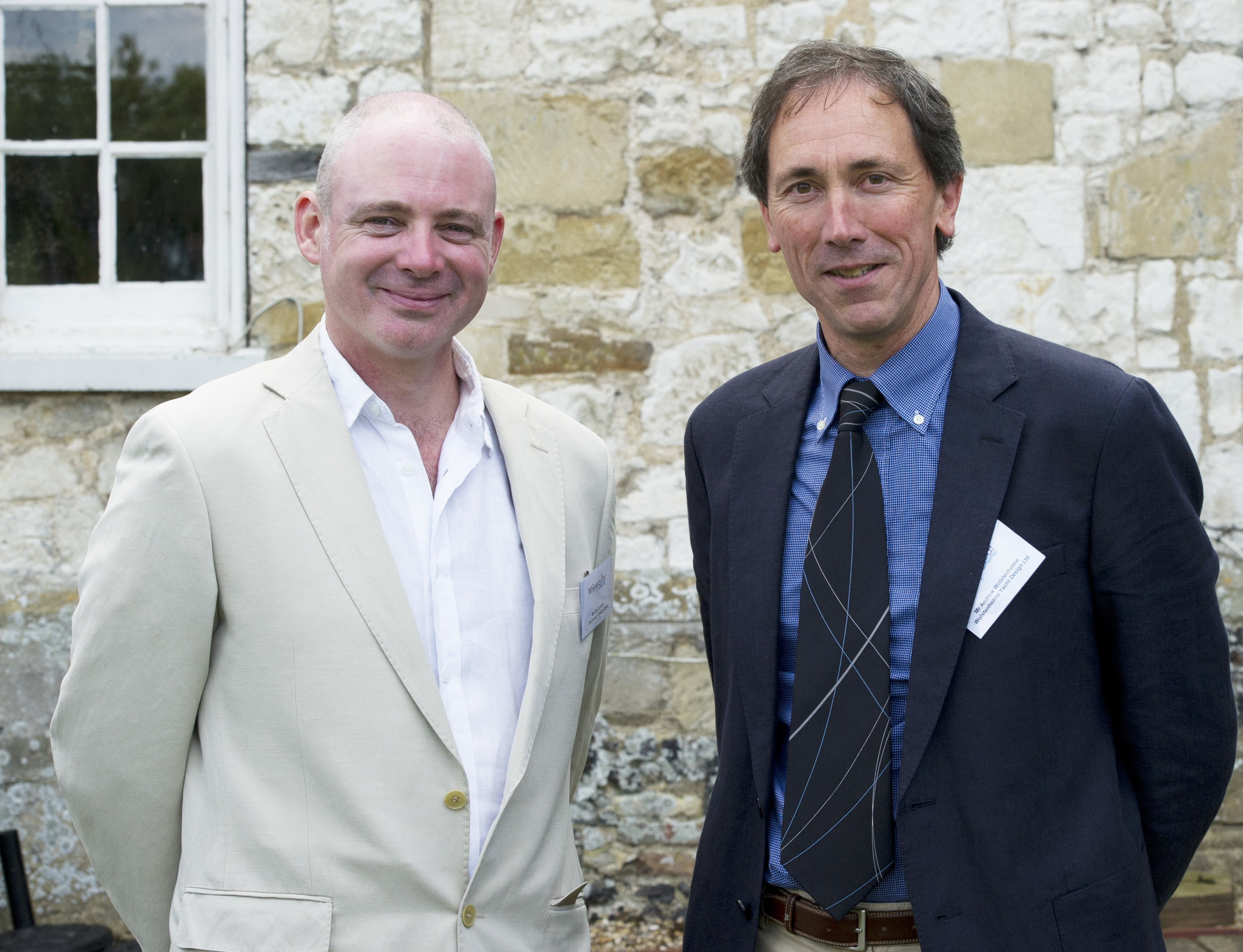 L to r: Jim Coulam and Andrew Wolstenholme at the launch of the Coulam Wheelyboat V20 and celebration of The Wheelyboat Trust's 30th anniversary, Bisham Abbey July 2014.