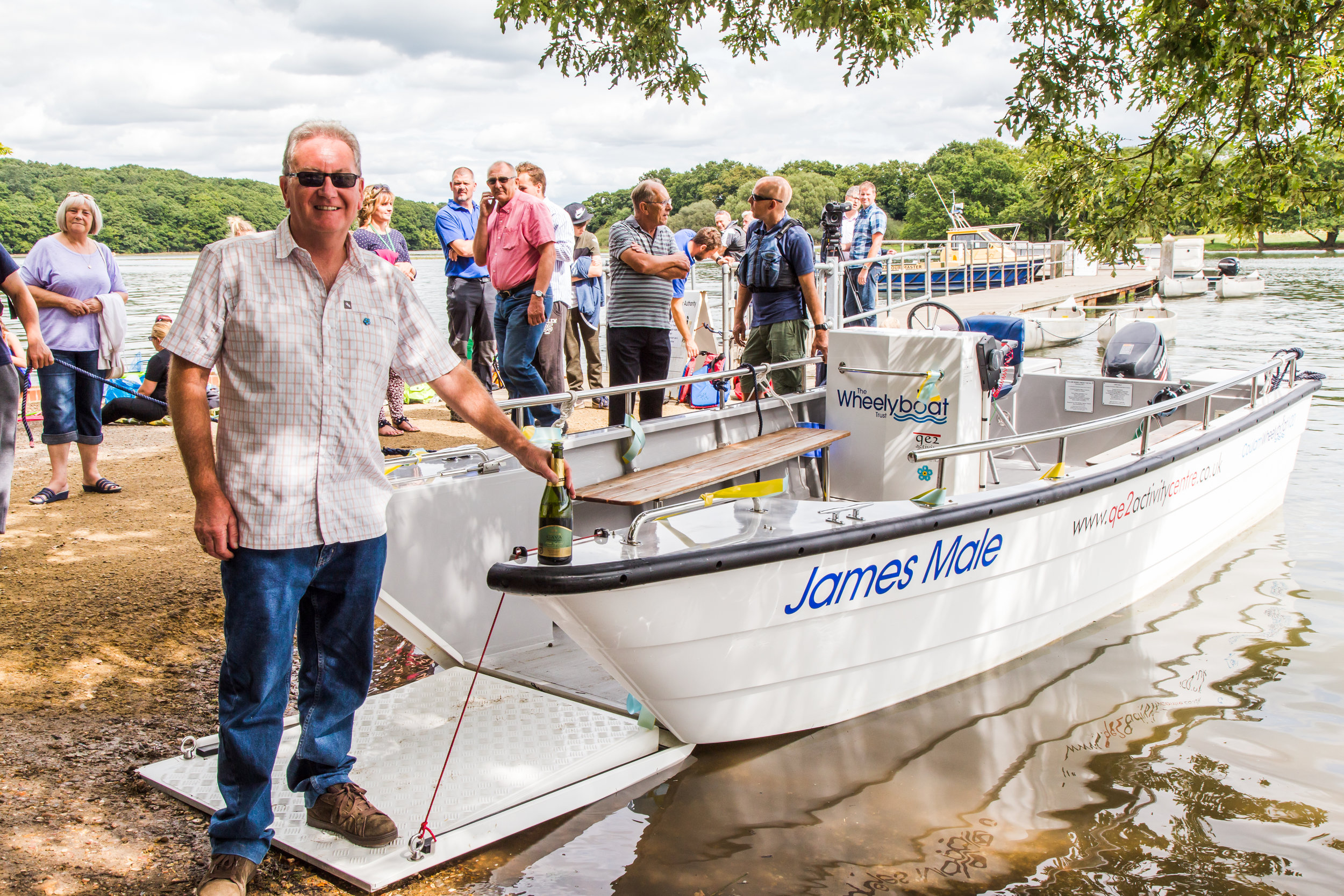 New Coulam Wheelyboat V20 launched at QE2 Activity Centre in memory of James Male_credit Nicki Fry, Appletree Photography 15.jpg