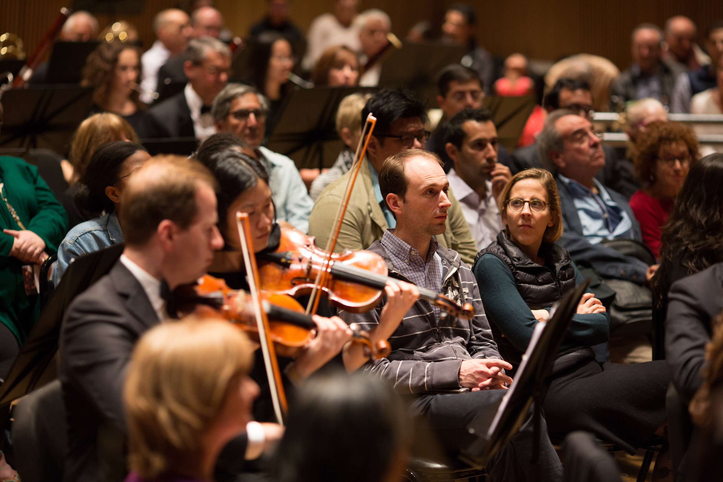 The Park Avenue Chamber Symphony's collaboration with InsideOut Concerts, Inc. brings audience members inside the orchestra allowing them to see, feel and hear the music making in a fully immersive experience.