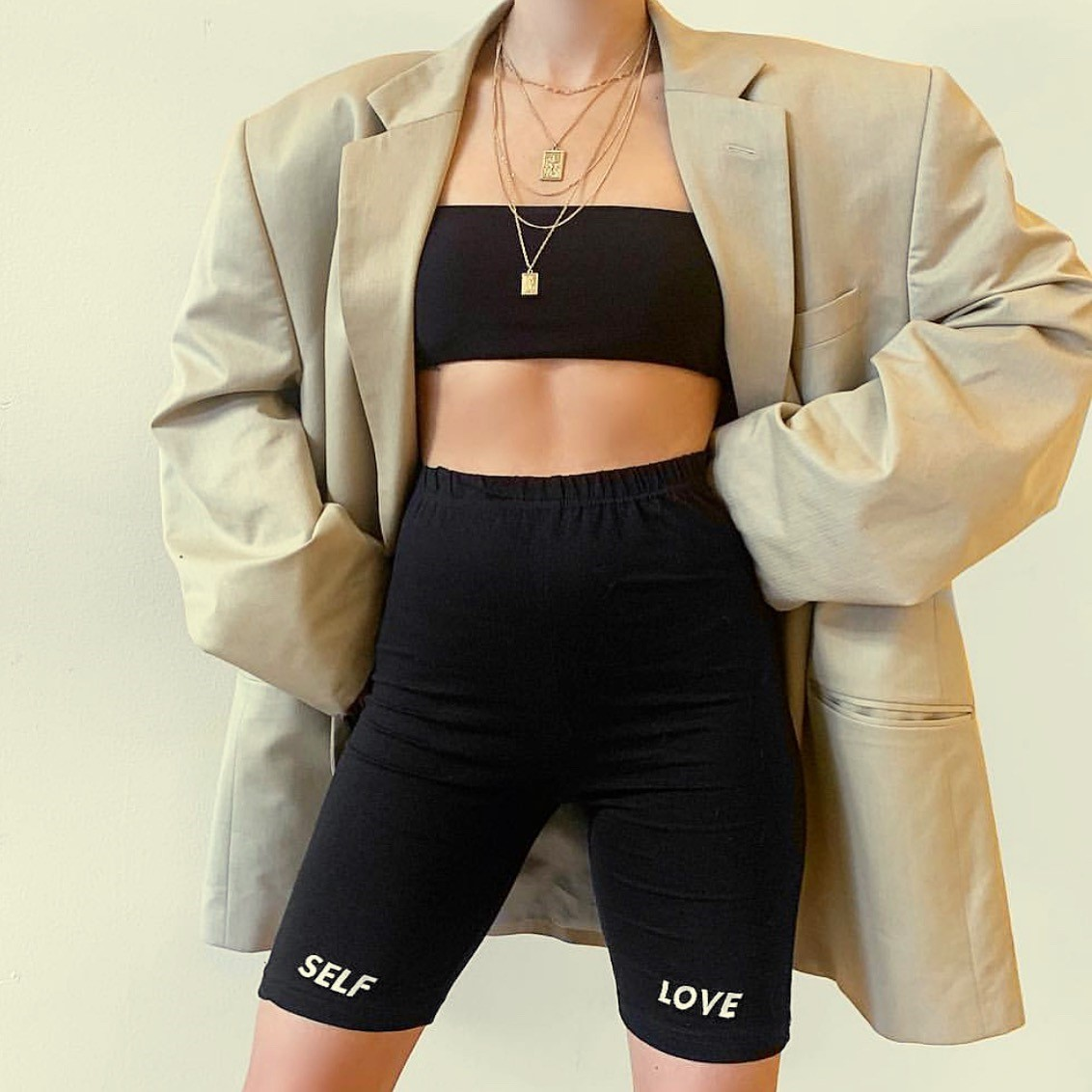 """SELF LOVE"" First Cycling Shorts"
