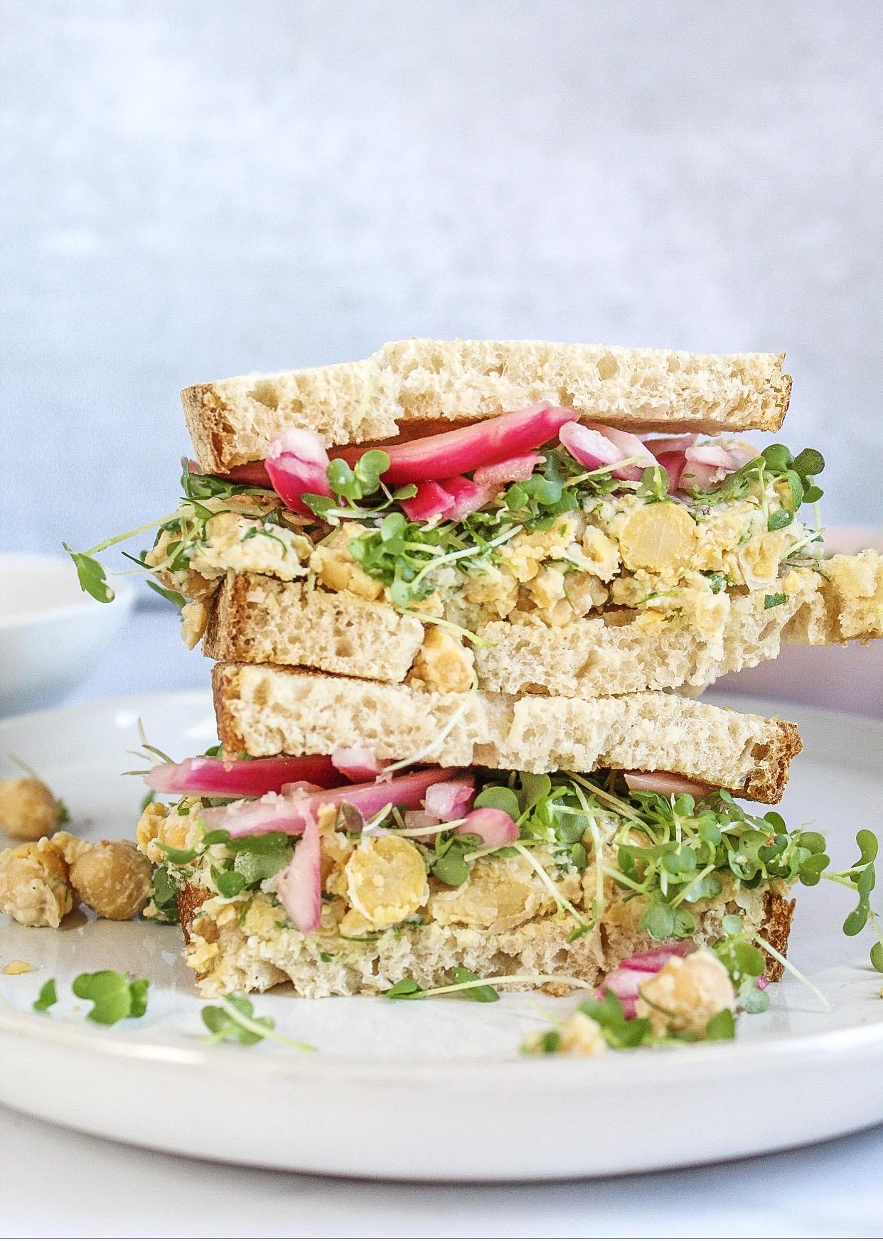 vegan chickpea salad sandwich 2