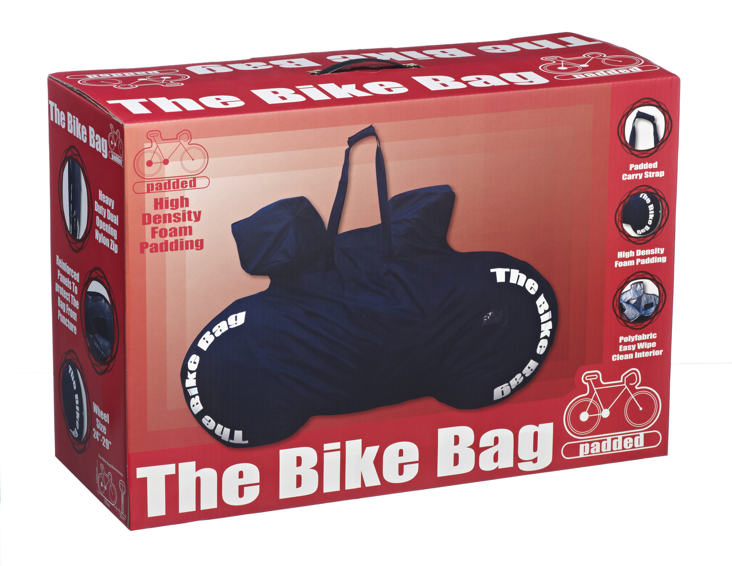 Standard Padded Black Bike Bag