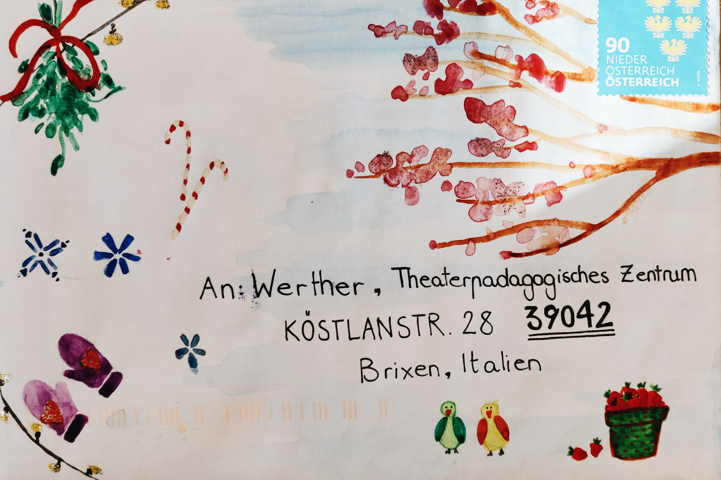 Briefumschlag von Francesca