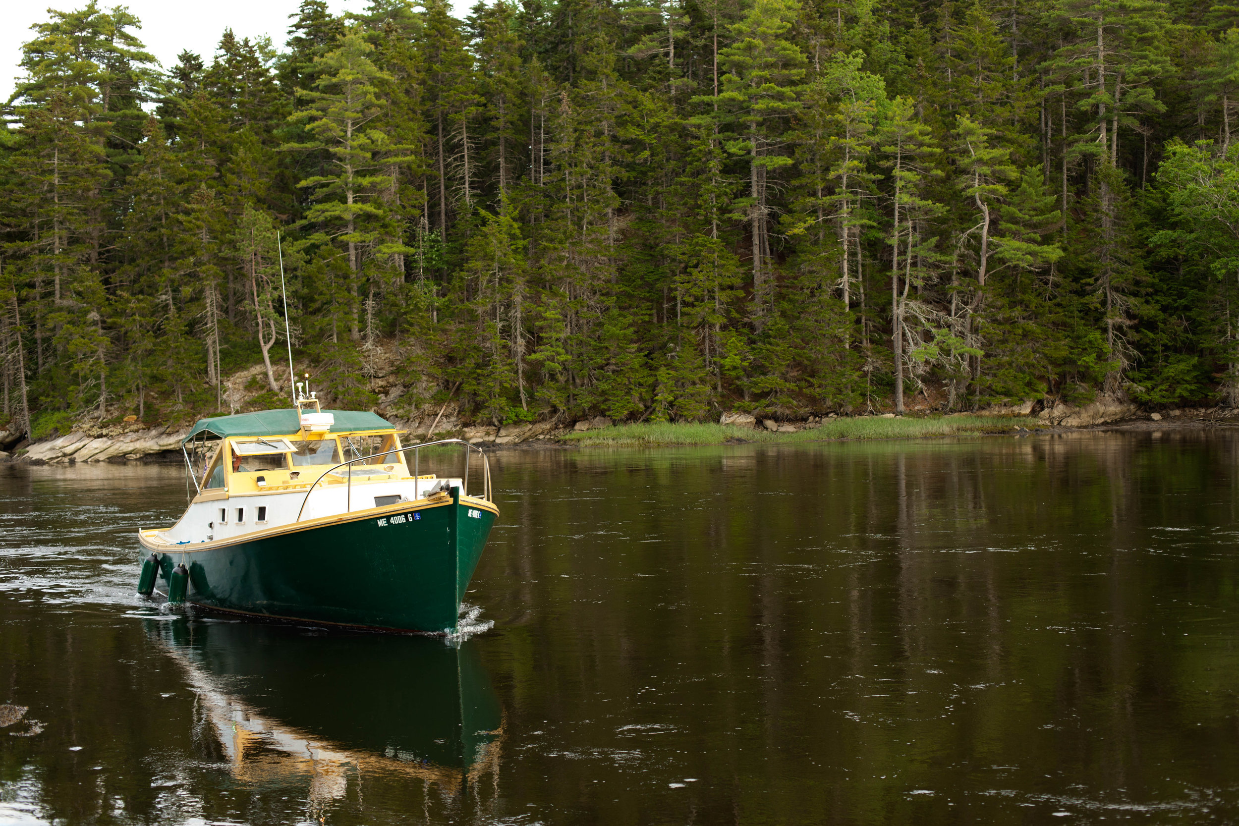 Coyote, our very own wooden lobster boat