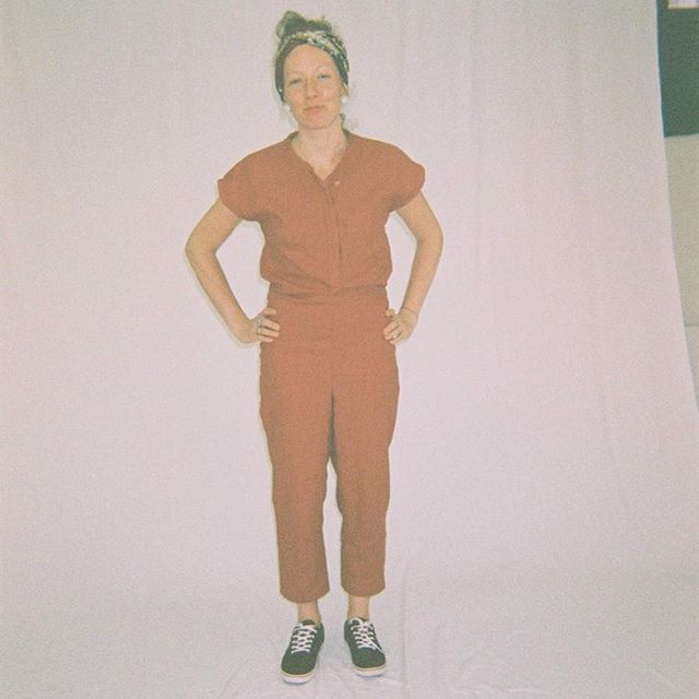 One of the first creations. One year ago. One great friend Olga and love for analog photography. #linen #linenjumpsuit #summerday #analogicphotography #graduationday #youngdesigner