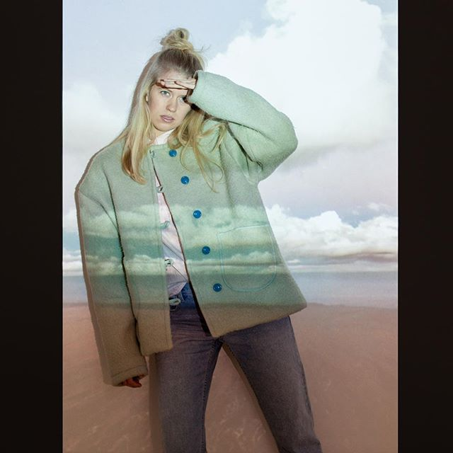 Masha Maria AW 17/18 campaign. Vintage recycled wool, handmade and unique. Model: @karlijngroenendijk Photographer: @renatachedeprints  #handmade #woolcoat #youngdesigner #pastel #travel #streetwear
