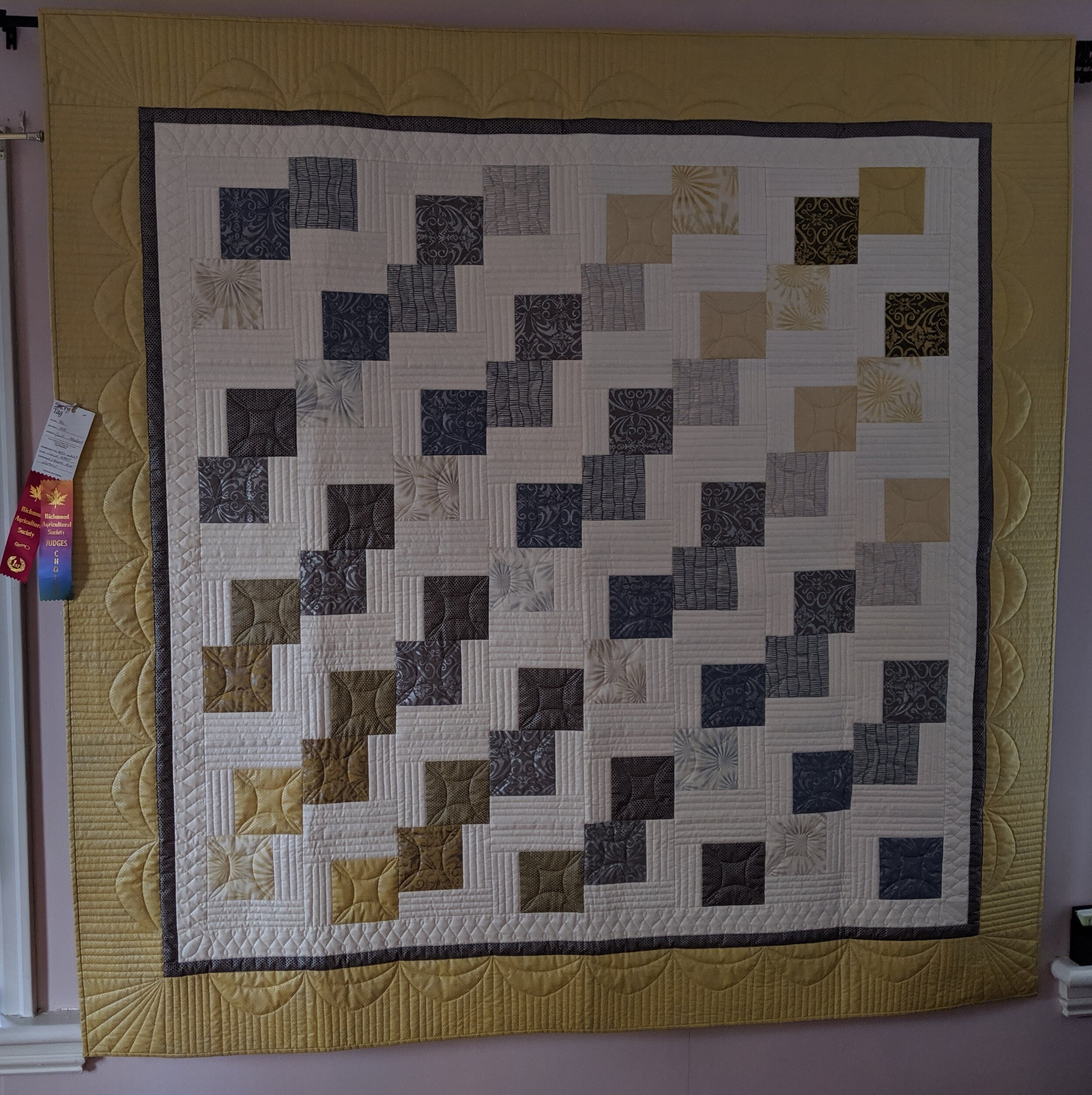 First place in 'Modern' category at local fair - customer quilt, quilted by HeritageArt.