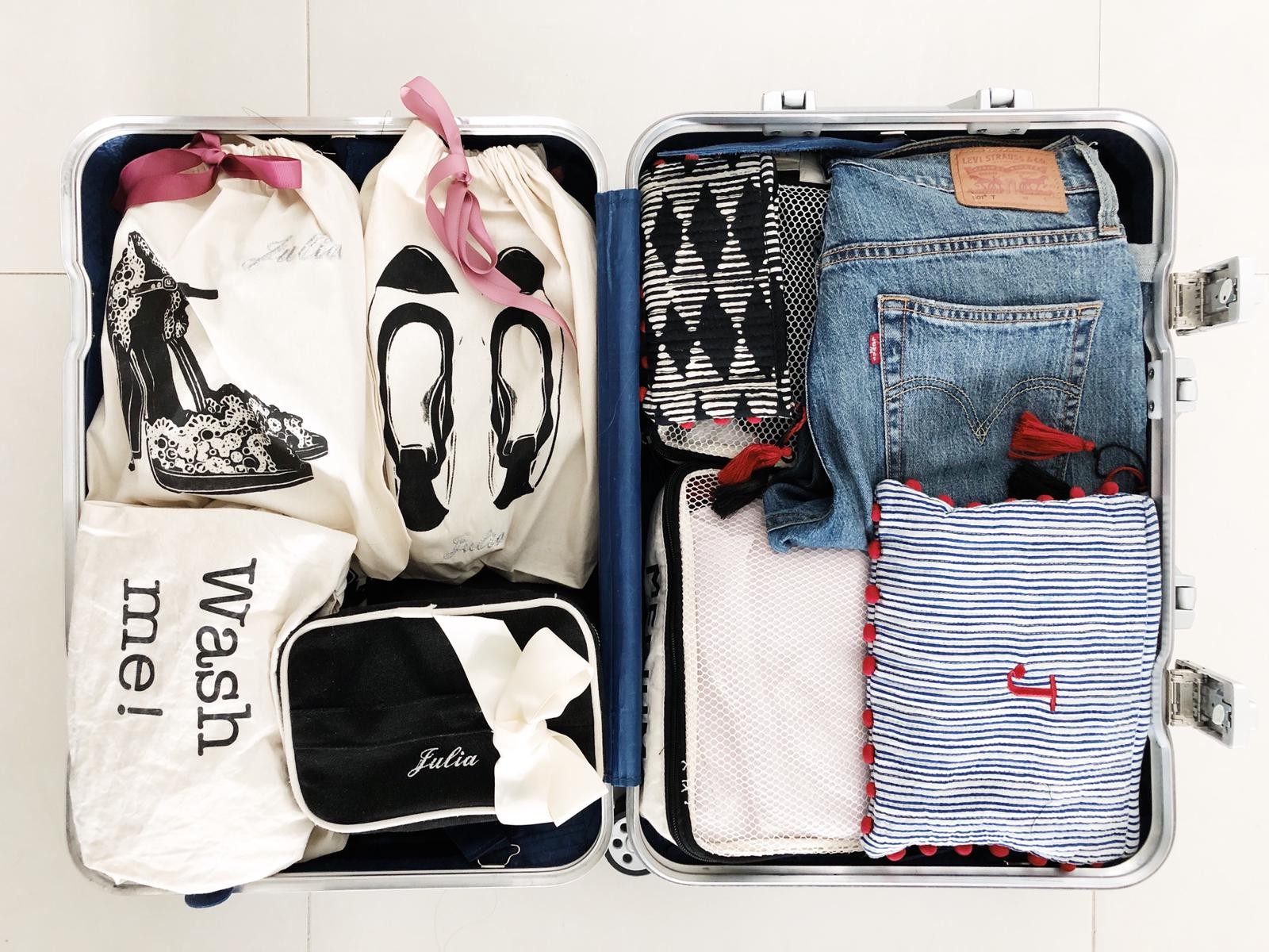 This is Julias suitcase when she recently went to Miami for a weekend trip.