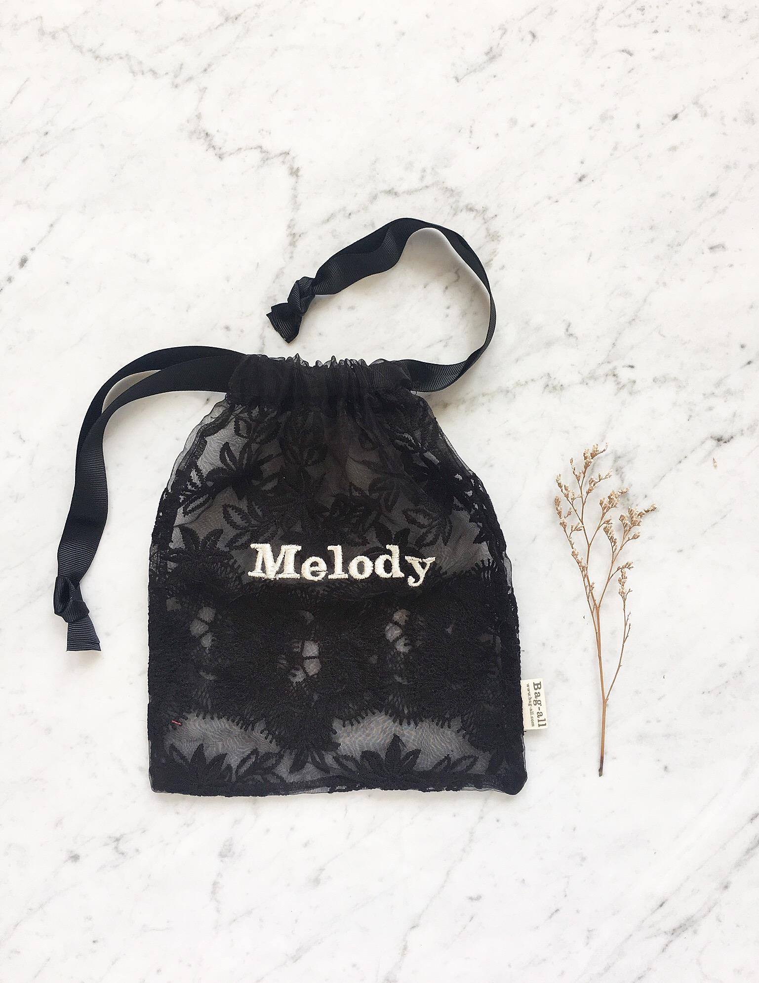 black lace bag monogram, mood bag-all 2.JPG